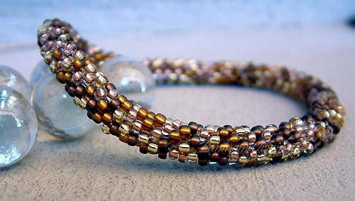 Bead Crochet Bracelet, Golden Topaz