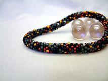 Smolder Bead Crochet Bracelet