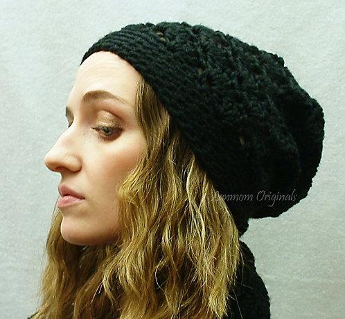 Slouchy Hat, Crochet Beanie - Michelle