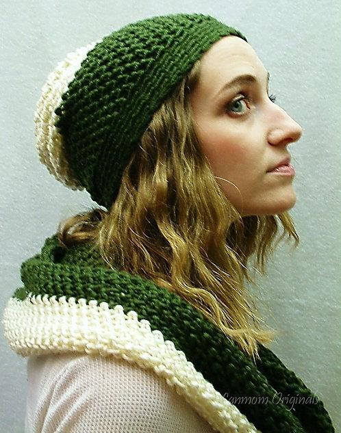 Crochet Cowl, Infinity Scarf Hood - Julianne
