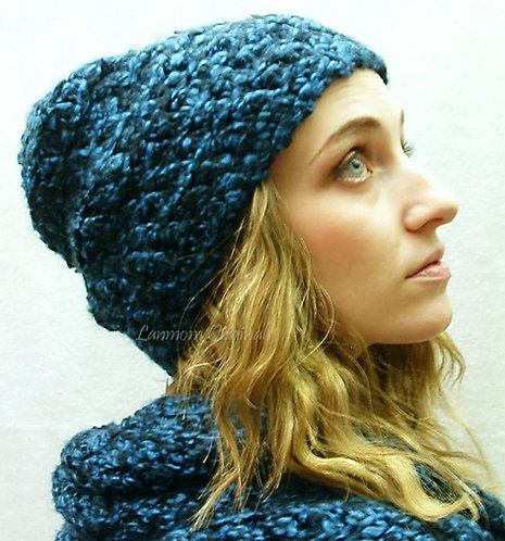 Slouchy Hat, Crochet Beanie - Douglass