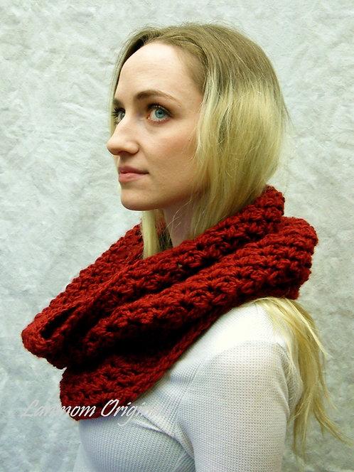 Chunky Cowl, Crochet Infinity Scarf Hood - Charlie