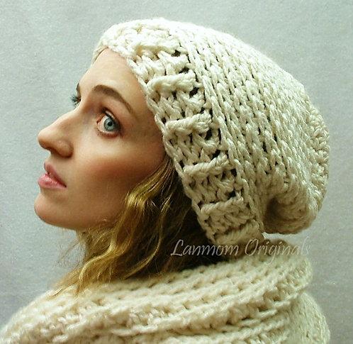 Slouchy Hat, Crochet Beanie - Sierra