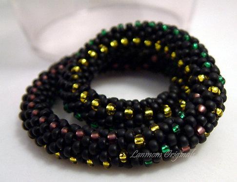 Bead Crochet Bracelet, MardiGras