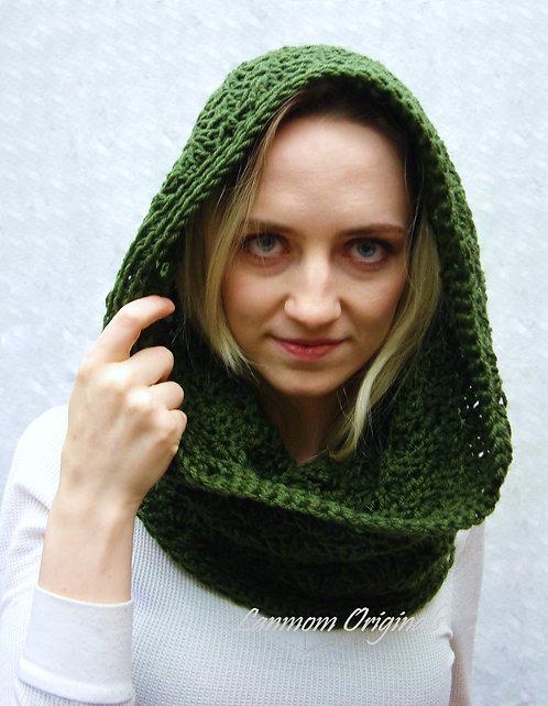 Crochet Cowl, Infinity Scarf Hood - Michelle