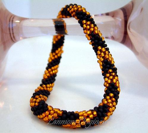Bead Crochet Bracelet, Bold Chevron