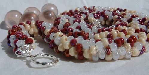 Bead Crochet Necklace, Fantasia Heart