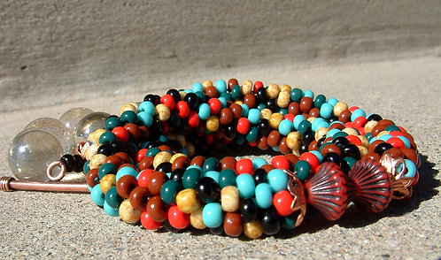 Bead Crochet Necklace, Fantasia Southwest