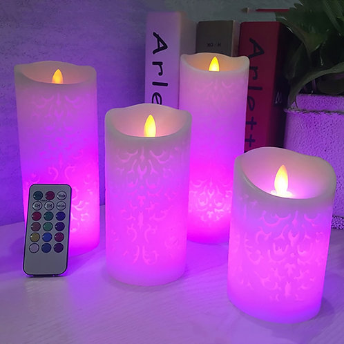Color Changing RGB Led Candle Made by Paraffin Wax