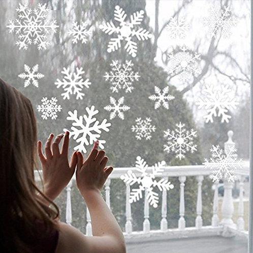 38 Pcs/Lot Snowflake Electrostatic Sticker Window