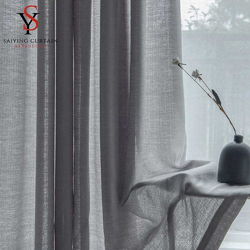 Modern Opaque Tulle Window Curtains
