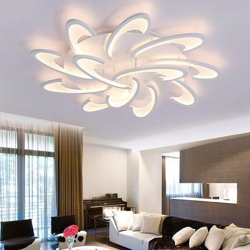 Modern LED Ceiling Lights White Dimmable With Remote