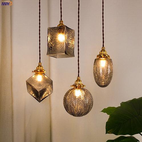 Glass Pendant Lights Fixtures Copper