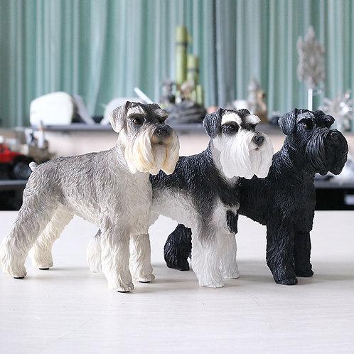 German Schnauzer Dog Art Sculpture Collection