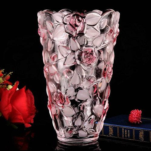 Crystal Glass Rose Vase European