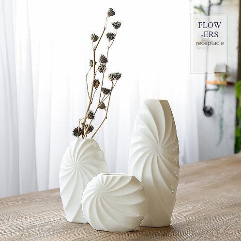 White Porcelain Ceramic Vase Simple Modern