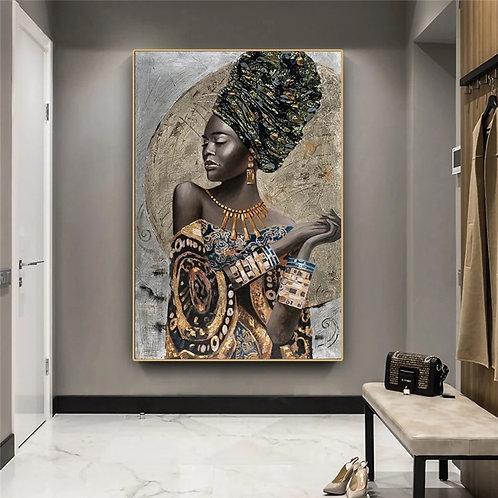 African Black Woman Graffiti Wall Art
