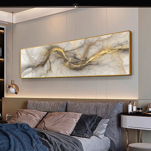 Grey Yellow Cloud Home Decor Modern Abstract Art Oil Painting