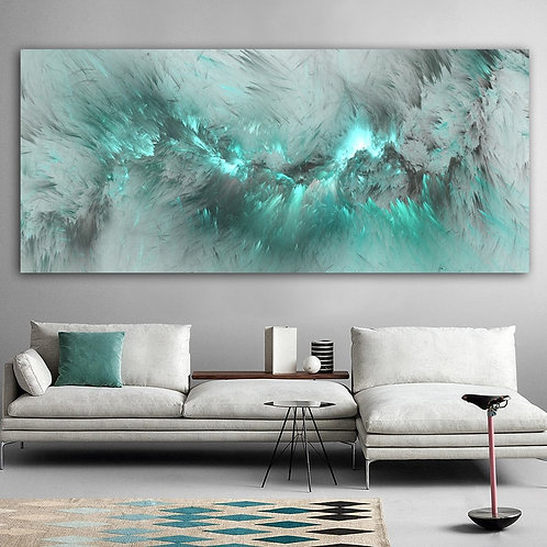 Light Blue Cloud Abstract Oil Painting