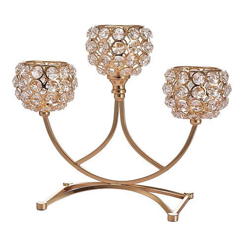 Crystal Candle Holder Sparking Candelabra Elegant Centerpiece Home Decor