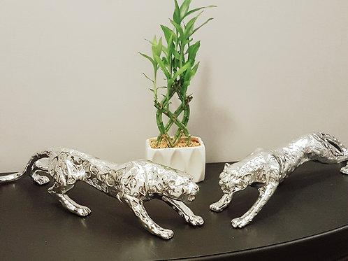 Standing Silver Leopard