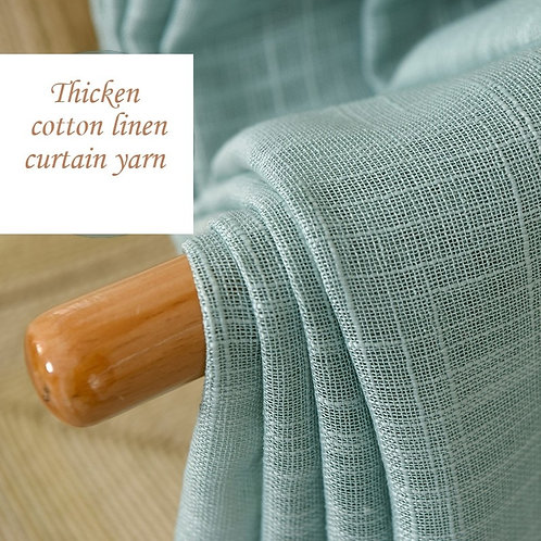 Simple Modern Cotton Curtain Yarn Pure Linen Thickened