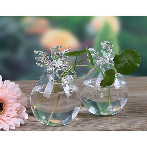 Glass Angel Shape Flower Plant