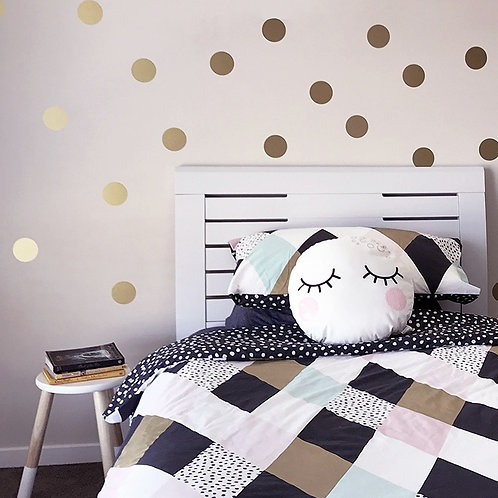 Gold Polka Dots Room Living Decor Home Wall Stickers Children Home Decor