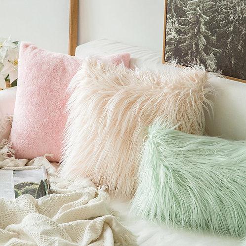 Soft Fur Plush Cushion Cover Home Decor Pillowcase 45x45cm