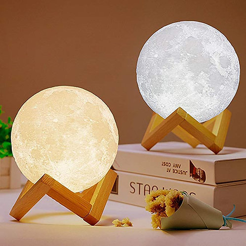 3D Print Moon Light Touch Switch Table Lamps