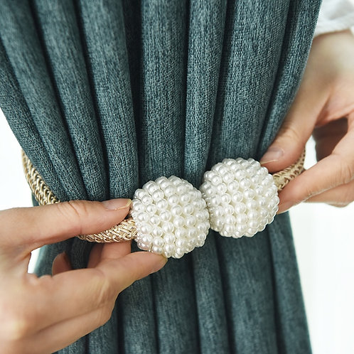 1x Pearl Magnetic Curtain Clip Curtain Holders Tieback Buckle Clips