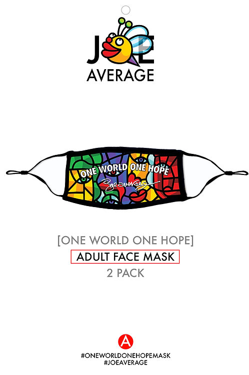 ONE WORLD ONE HOPE MASK TWO PACK