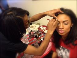 Gabrielle gets Make up