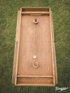Location de jeux en bois en Normandie - table à glisser