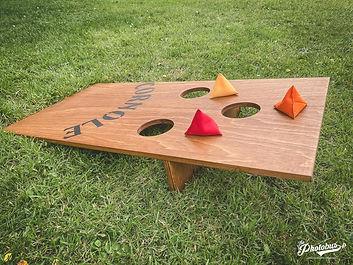 Location de jeux en bois en Normandie - le cornole