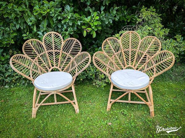 location fauteuil fleur en rotin - cérémonie - Normandie