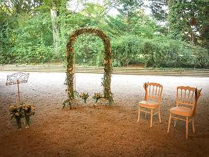 Location arche de cérémonie en fer forgé - Normandie
