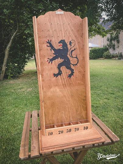 Location jeux en bois en Normandie - jeu du fakir
