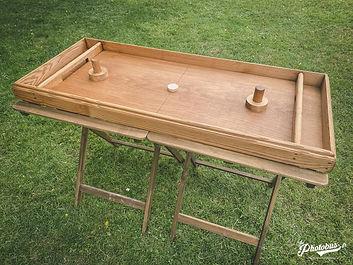Location jeux en bois en Normandie - Table à glisser