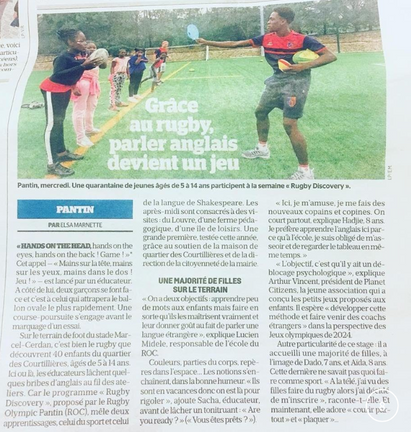 Stage Anglais et Rugby