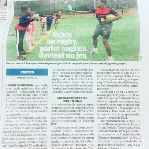 Olympic Rugby Pantin's club starts its first summer week training