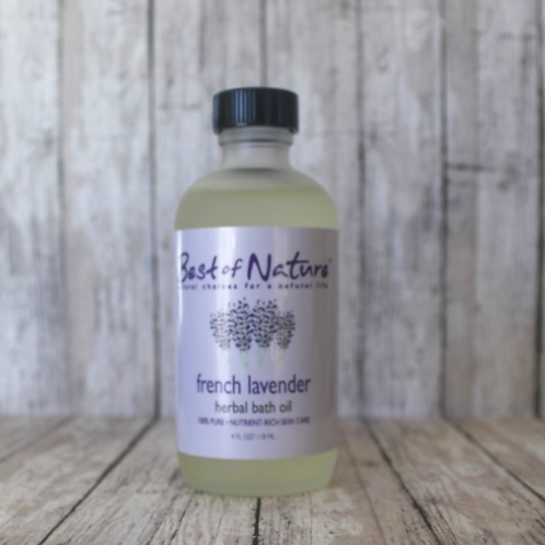 French Lavender Herbal Bath Oil by Best of Nature