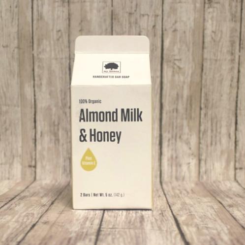 Organic Almond Milk and Honey Soap by My Monoa