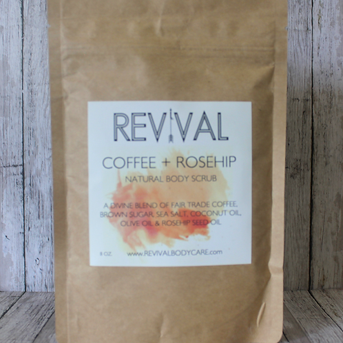 Coffee + Rosehip Natural Body Scrub by Revival