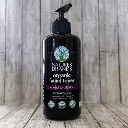 Organic Facial Toner  (6.8floz UV Glass)
