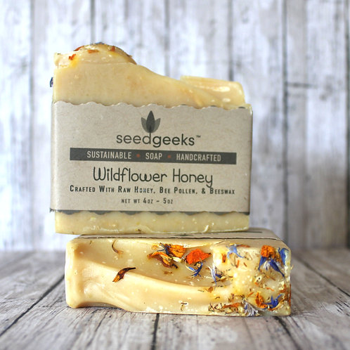 WILDFLOWER HONEY SOAP by seedgeeks