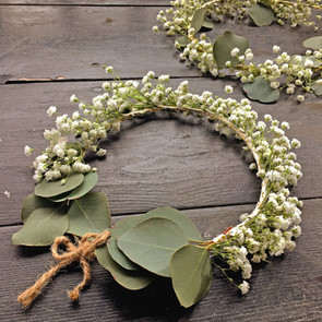 Baby's Breath and Eucalyptus, Wing tipped Crown