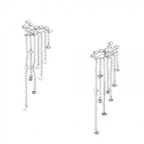 Hook Dangle Earrings Gold Silver