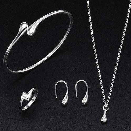 4Pcs/Set Luxury Gold Jewelry Set