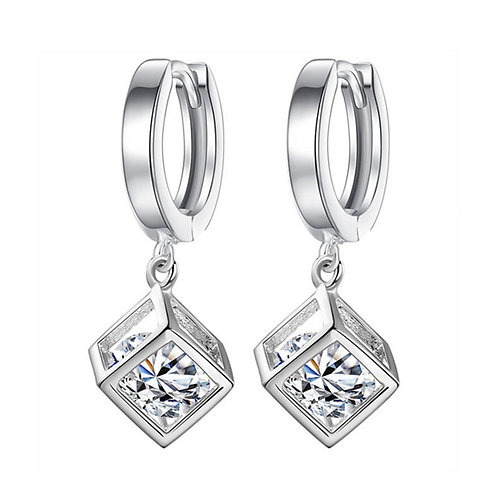 925 Sterling Silver Jewelry Woman Fashion Zircon Concise Girl Cute Brand Fashion
